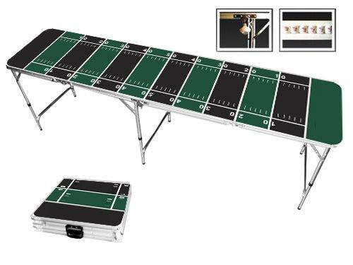 Green & Black Football Field Beer Pong Table