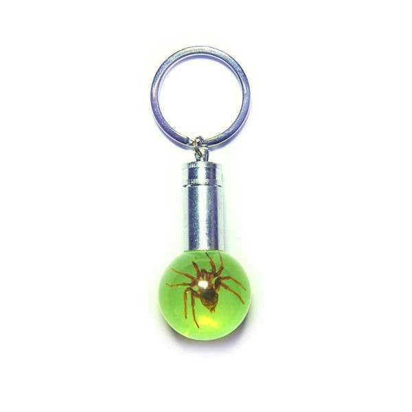 Green Spider LED Key Chain
