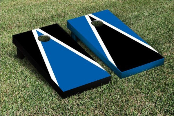 Handpainted Black and Blue Cornhole Game Set