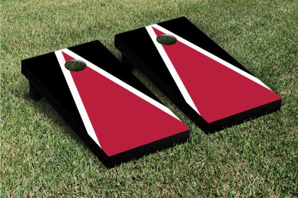 Handpainted Black and Red Cornhole Game Set