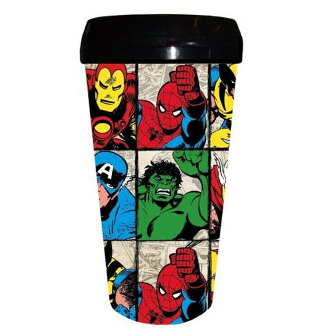 Marvel Characters 16oz Plastic Travel Mug