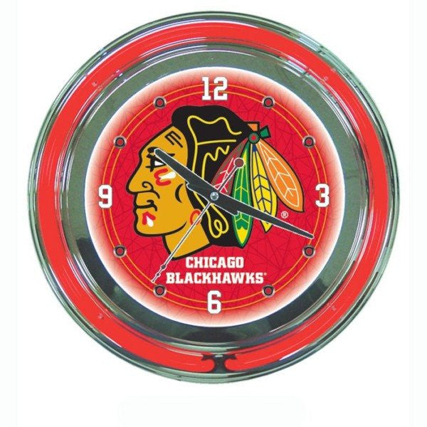 NHL Chicago Blackhawks Neon Clock
