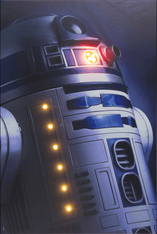 Star Wars R2D2 Illuminating Canvas (Large)