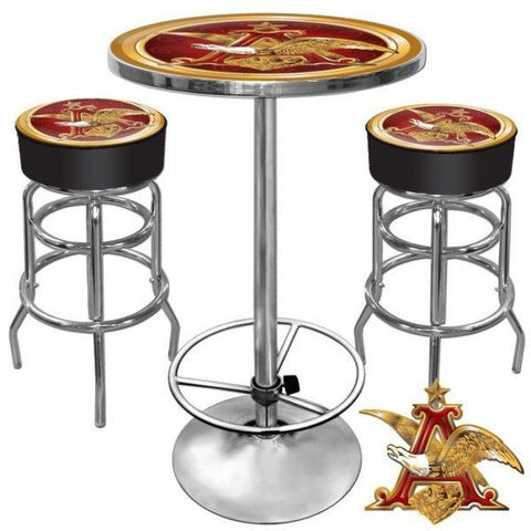 Ultimate A and Eagle Gameroom Combo 2 Bar Stools and Table