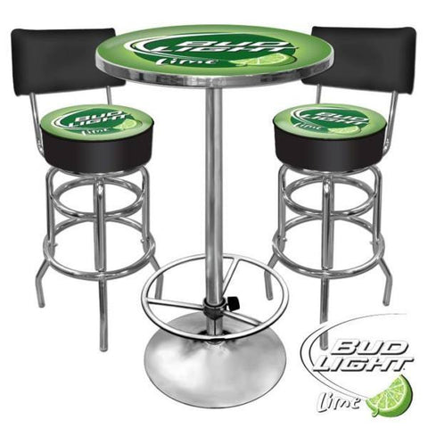 Ultimate Bud Light Lime Bar Stools and Table Set