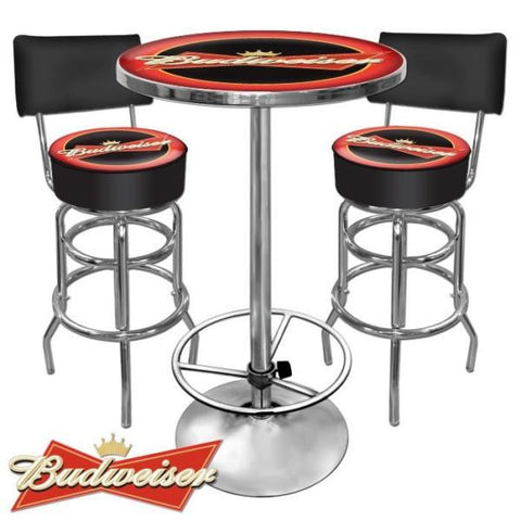 Ultimate Budweiser Bar Stools and Table Set