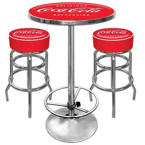 Ultimate Coca-Cola Gameroom Combo 2 Bar Stools and Table