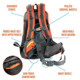 45L Internal Frame Backpack, Orange