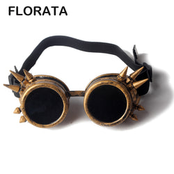 Florata Spiked Gothic Steampunk Goggles/Glasses