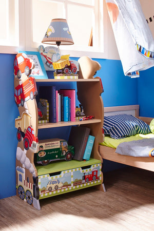 """Fantasy Fields-Transport Bookcase"" - Childhood Home - kids bedrooms & play spaces"