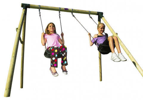 Plum Marmoset Double Swing Set - Childhood Home - kids bedrooms & play spaces