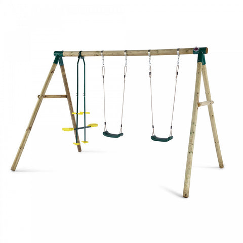 Plum Colobus Wooden Swing Set - Childhood Home - kids bedrooms & play spaces