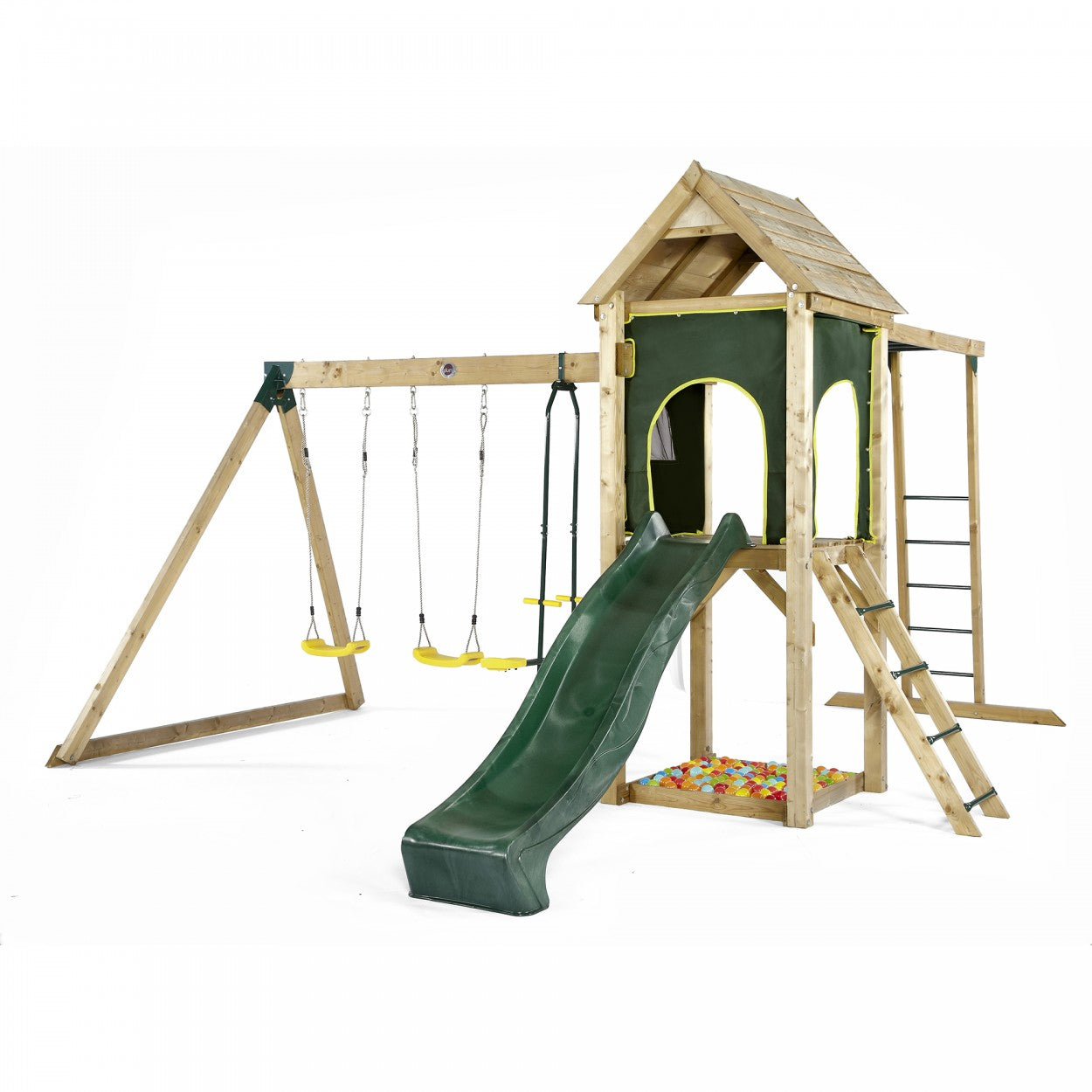 Plum Kudu Play Centre with Swing Set, Wave Slide and Monkey Bars ...