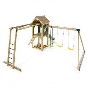 Plum Kudu Play Centre with Swing Set, Wave Slide and Monkey Bars - Childhood Home - kids bedrooms & play spaces