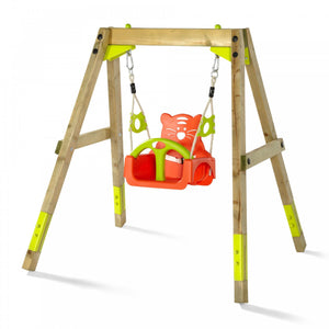 Plum Wooden Growing Swing Set - Childhood Home - kids bedrooms & play spaces