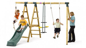Plum Meerkat with Climbing Rope and Wave Slide - Childhood Home - kids bedrooms & play spaces