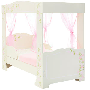 Rose Four Poster Toddler Bed with Side Safety Panel Design - Childhood Home - kids bedrooms & play spaces