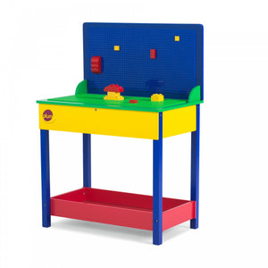 Plum Build-It Timber Construction Play Table for Duplo Style Building Bricks - Childhood Home - kids bedrooms & play spaces