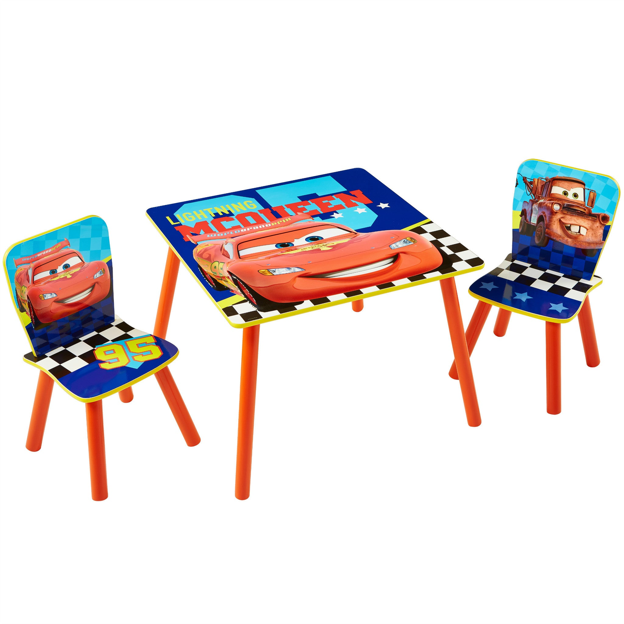 Disney Pixar Cars 2 Lightning McQueen Desk and Stool Set Worlds