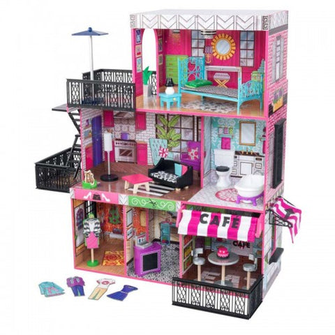 Brooklyn's Loft Dollhouse - Childhood Home - kids bedrooms & play spaces