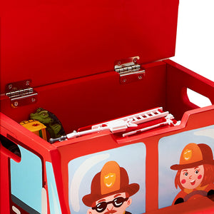 """Fantasy Fields - Lil Fire Fighters Step Stool"" - Childhood Home - kids bedrooms & play spaces"