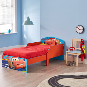 Disney Cars 3 Classic Toddler Bed with Safety Side Panel Design - Childhood Home - kids bedrooms & play spaces