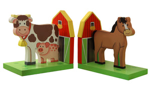 """Fantasy Fields-Happy Farm Bookends"" - Childhood Home - kids bedrooms & play spaces"