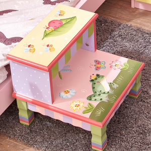 """Fantasy Fields Magic Garden Step Stool"" - Childhood Home - kids bedrooms & play spaces"