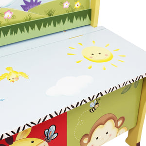 Fantasy Fields-Sunny Safari Storage Bench - Childhood Home - kids bedrooms & play spaces