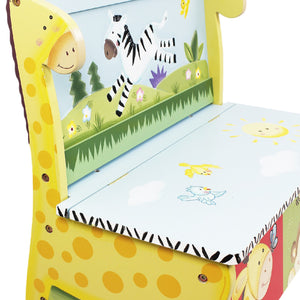 """Fantasy Fields-Sunny Safari Storage Bench"" - Childhood Home - kids bedrooms & play spaces"
