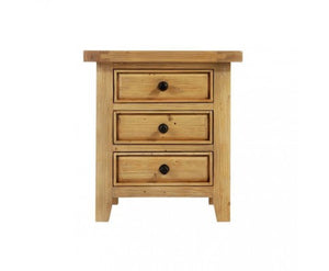 New Zealand Pine 3 Drawer Tuscany Classic Bedside Table - Childhood Home - kids bedrooms & play spaces