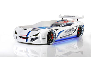 Flash GT Premium Euro Racing Car Bed with Lights and Sounds, Red - Childhood Home - kids bedrooms & play spaces