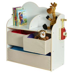 StarBright Mini Toy Storage Box with Bookshelf and Hook - Childhood Home - kids bedrooms & play spaces
