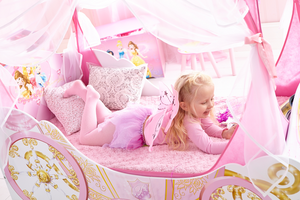 Disney Princess Carriage Toddler Bed with Canopy with Storage - Childhood Home - kids bedrooms & play spaces