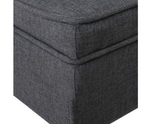 Fabric Ottoman with Lift-Up Storage Compartment, Grey - Childhood Home - kids bedrooms & play spaces