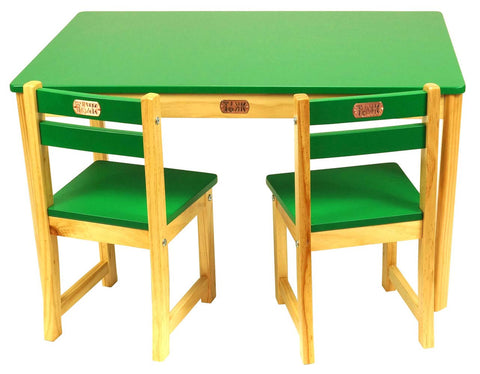 Little Boss Table and Chairs Set, Rectangle - Childhood Home - kids bedrooms & play spaces