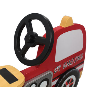 Fire Engine Rocker - Childhood Home - kids bedrooms & play spaces