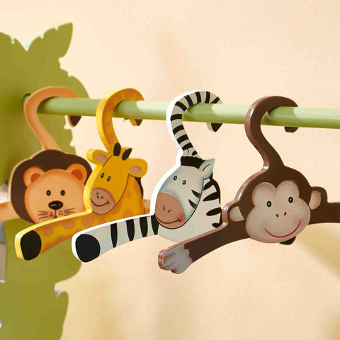 Fantasy Fields -Sunny Safari set of 4 hangers - Childhood Home - kids bedrooms & play spaces
