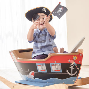 Pirates Rocker Boat with Accessories - Childhood Home - kids bedrooms & play spaces
