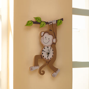 """Fantasy Fields- Sunny Safari Wall Clock"" - Childhood Home - kids bedrooms & play spaces"