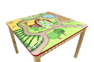 Fantasy Fields-Teamson Happy Farm Table - Childhood Home - kids bedrooms & play spaces