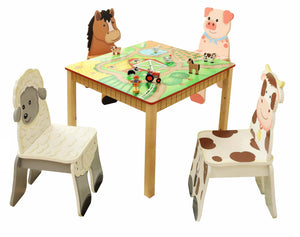 """Fantasy Fields-Happy Farm Kids Chair Farmer"" - Childhood Home - kids bedrooms & play spaces"