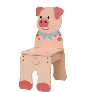 Fantasy Fields-Happy Farm Kids Chair Pig - Childhood Home - kids bedrooms & play spaces