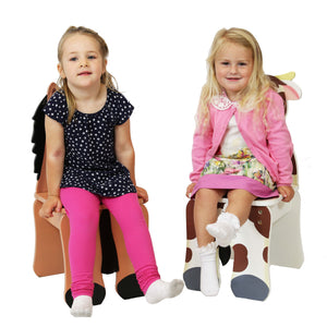 """Fantasy Fields-Happy Farm Kids Chair Pony"" - Childhood Home - kids bedrooms & play spaces"