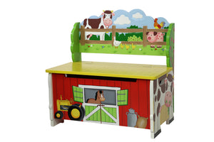 """Fantasy Fields-Happy Farm Storage Bench"" - Childhood Home - kids bedrooms & play spaces"