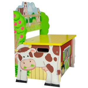 Fantasy Fields-Happy Farm Storage Bench - Childhood Home - kids bedrooms & play spaces