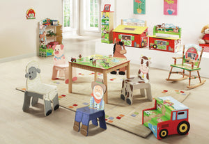 """Fantasy Fields-Happy Farm Toy Box"" - Childhood Home - kids bedrooms & play spaces"