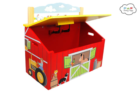 Fantasy Fields-Happy Farm Toy Box - Childhood Home - kids bedrooms & play spaces