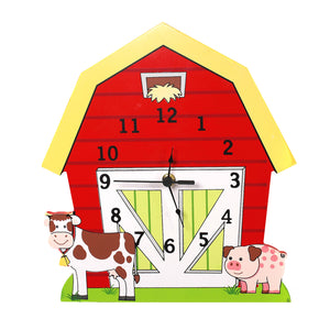 """Fantasy Fields-happy Farm Wall Clock"" - Childhood Home - kids bedrooms & play spaces"