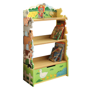 Fantasy Fields-Happy Farm Animals Bookshelf - Childhood Home - kids bedrooms & play spaces